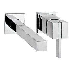 Llave para lavabo Monomando de pared Kubika E-3005 Helvex